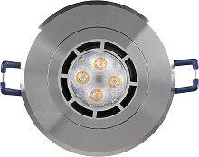 LED Einbaustrahler 230V 5 26302-1 Warmweiß Ø68