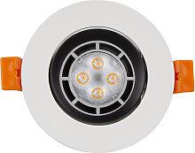 LED Einbaustrahler 230V 5 7506 Warmweiß Ø75 IP20