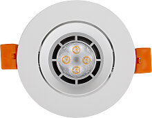 LED Einbaustrahler 230V 5 7507 Warmweiß Ø75 IP20