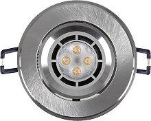 LED Einbaustrahler 230V 5W 6332 Warmweiß Ø73