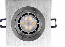 LED Einbaustrahler 230V 5W 6711 Warmweiß Ø80