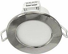 LED Einbaustrahler 230V 6W flach Einbauspot