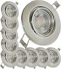 LED Einbaustrahler 230V inkl. 10 x 5W LED LM Farbe