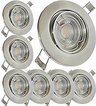 LED Einbaustrahler 230V inkl. 7 x 5W LED LM Farbe
