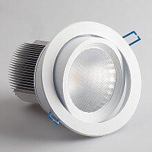 LED Einbaustrahler 25W schwenkbar weiß Ø140mm