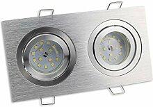 LED Einbaustrahler 2er eckig 7 Watt warmweiß 230V