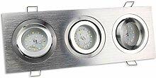 LED Einbaustrahler 3er eckig 5 Watt neutralweiß