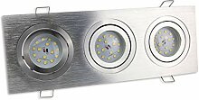 LED Einbaustrahler 3er eckig 7 Watt neutralweiß