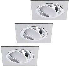 LED-Einbaustrahler 3er Set | Einbauleuchte Alu