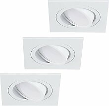 LED-Einbaustrahler 3er Set | Einbauleuchte weiß
