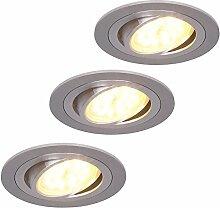 LED-Einbaustrahler 3er Set rund   Einbauleuchte