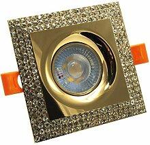 LED-Einbaustrahler 5 W quadratisch Rahmen Glitter