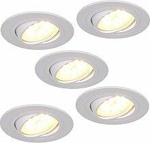 LED-Einbaustrahler 5er Set 5W | Einbauleuchte