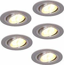 LED-Einbaustrahler 5er Set rund   5x Einbauleuchte