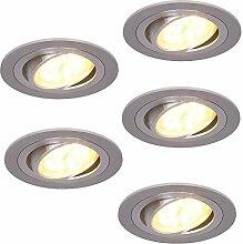 LED-Einbaustrahler 5er Set rund | 5x Einbauleuchte