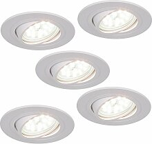 LED-Einbaustrahler 5W | 5er Set Einbauleuchte