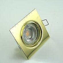 LED Einbaustrahler 5W 9 SMD GU10 + Einbaurahmen