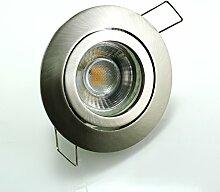 LED Einbaustrahler 5W 9 SMD GU10 + Rahmen