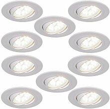 LED-Einbaustrahler 5W als 10er Set   Einbauleuchte