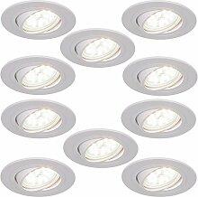 LED-Einbaustrahler 5W als 10er Set | Einbauleuchte