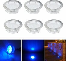 LED Einbaustrahler, 6er Set Bodeneinbaustrahler