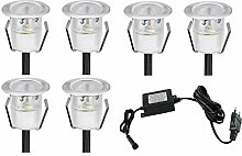 LED Einbaustrahler, 6er Set LED Bodeneinbauleuchte