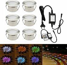LED Einbaustrahler, 6er Stehleuchte Einbaustrahler