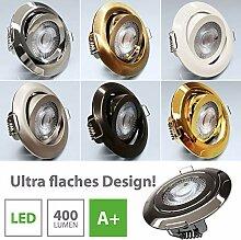 LED Einbaustrahler 6x Ultraflach 5 Watt Schwarz