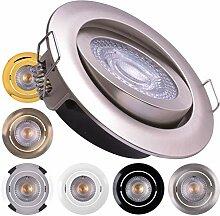 LED Einbaustrahler 6x Ultraflach 5 Watt Weiß