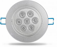 LED Einbaustrahler 7W schwenkbar weiß Ø89mm