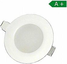 LED Einbaustrahler 85mm 30mm Tiefe 8 Watt mit integriertem Trafo IP 44 neutralweiss Einbauspot Lampe Wandleuchte