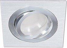 LED Einbaustrahler Aluminium gebürstet 3-fach