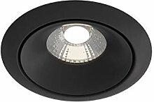 LED Einbaustrahler Aluminium, modern, schwarz, 9.8