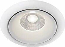 LED Einbaustrahler Aluminium, modern, weiß, 9.8