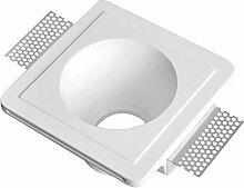 LED Einbaustrahler aus Gips LISA Weiss Inkl. 1 X