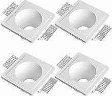 LED Einbaustrahler aus Gips LISA Weiss Inkl. 4 X