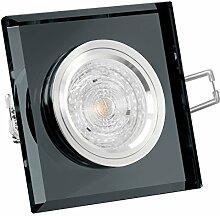 LED Einbaustrahler aus Glas Einbauleuchte schwarz