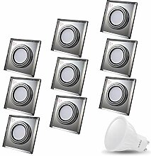 LED Einbaustrahler aus Glas/Spiegel/Klar CRISTAL
