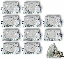 LED Einbaustrahler aus Glas/Spiegel/Klar CRISTAL-S