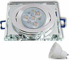 LED Einbaustrahler aus Glas/Spiegel/Klar Dimmbar