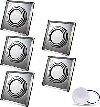 LED Einbaustrahler aus Glas/Spiegel/Klar