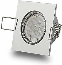 LED Einbaustrahler Chrom eckig 3W warmweiß 12V
