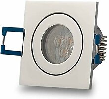 LED Einbaustrahler Chrom - eckig 4W warmweiß 230V