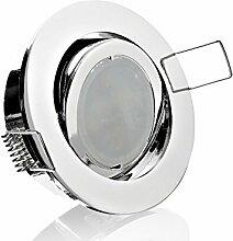 LED Einbaustrahler Chrom schwenkbar Spot
