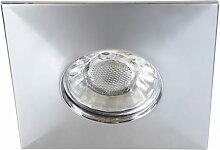 LED Einbaustrahler chrom, warmweiß, eckig, 4W