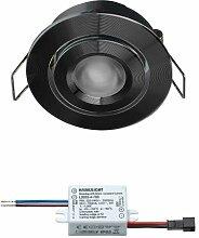 LED Einbaustrahler Creelux Schwarz |