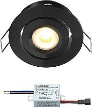 LED Einbaustrahler Creelux Schwarz  