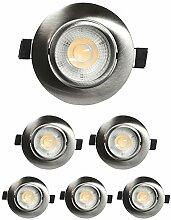 LED Einbaustrahler Dimmbar Flach 230v