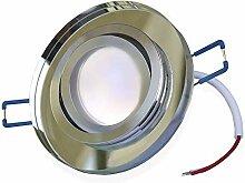 LED Einbaustrahler dimmbar Glas schwenkbar flach