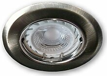 LED Einbaustrahler Dimmbar GU10 230 V SSD005 alu